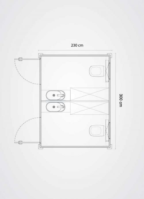 Planimetria monoblocco cc-bm-x2-ac