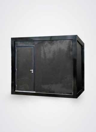 esterno di bagno prefabbricato portabile di lusso a tre toilette con porta a sinistra