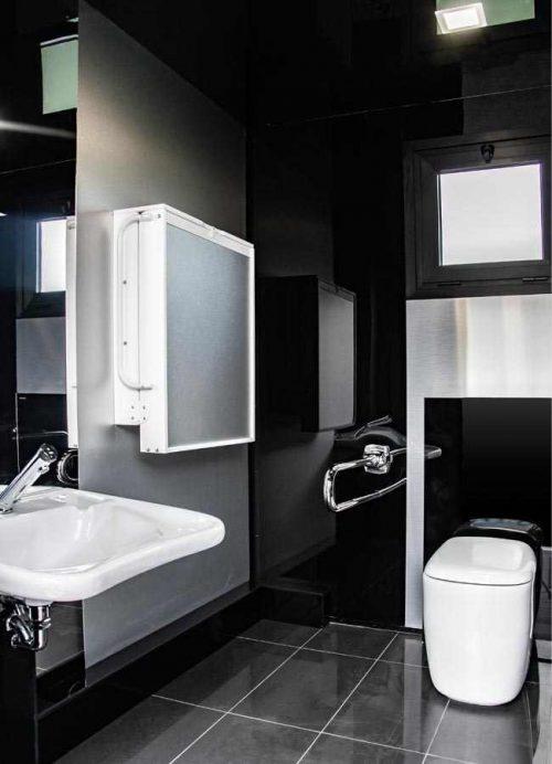 interni del bagno mobile di lusso per eventi non chimico per disabili