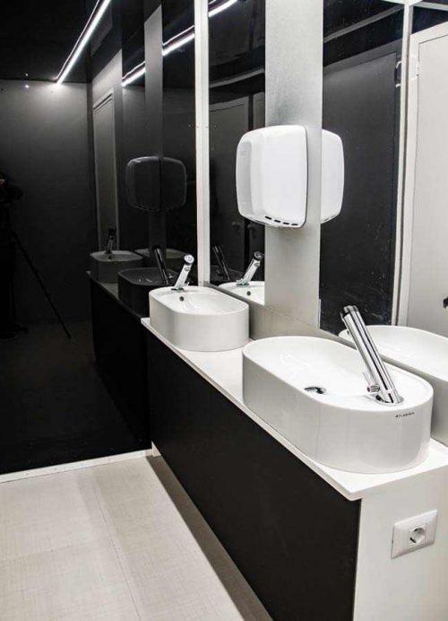 anticamera del bagno prefabbricato di lusso per eventi