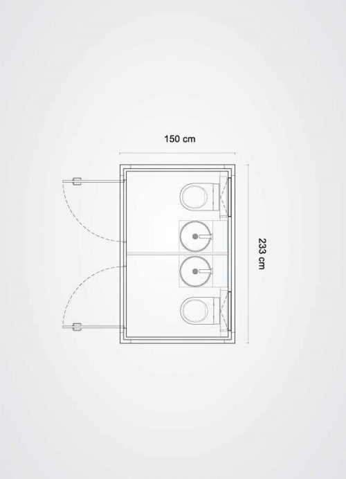 Planimetria cube slim x2 silver mirror