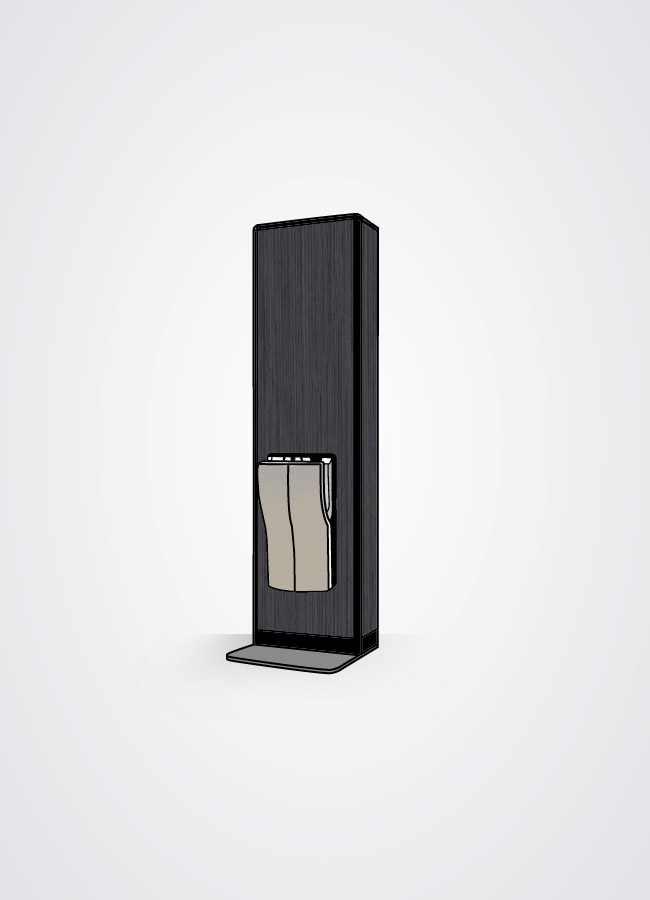 Torre asciugamani in versione black wood