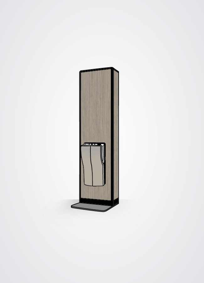 Torre asciugamani in versione white wood