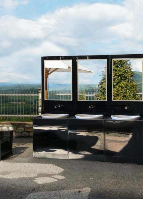Lavabi Fashion Toilet in terrazza panoramica